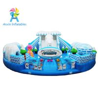 Inflatable fun city castle Polar exploration adventure, interesting white bear inflatable house with thumbnail image
