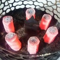 100% Pure Coconut charcoal hexagonal shape for Hookah Shisha and BBQ