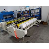 Automatic ultrasonic leather, non-woven fabric, garment cutting&slitting machine thumbnail image
