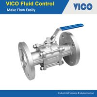 3PC Flanged Ball Valve DIN3202 thumbnail image