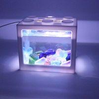 Jelly Fish Tank Aquarium Mood Night Light Color Change Jellyfish Table Lamp for Kids Home Office Dec thumbnail image