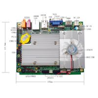 Intel GM45 Mini DC 12V  Motherboard with 4*COM /CF Card