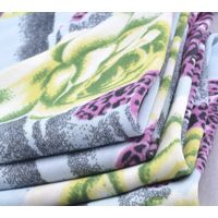 Polyester Elastane Traditional large flower printed FDY fabric