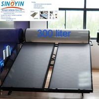 Compact solar collector water heater of 300 liter