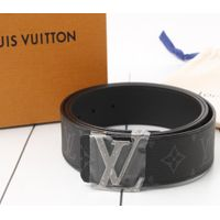 Used original Brand LOUIS VUITTON M9043 Eclipse Monogram Reversible Leather Belt for bulk sale.