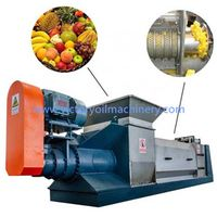 Factory supply vegetable screw press fruit solid-liquid separator machine