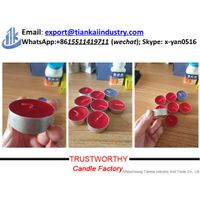 unscented pure paraffin wax candle tealight candle decor thumbnail image
