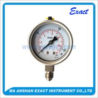 All Stainless Steel Oiled Pressure Gauge