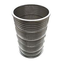 Custom SS304 Stainless Steel Reverse Formed Wedge Wire Cylinder, Wedge Wire Pipe, Tube, Supplier