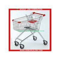 150L four wheels steel supermarket trolley thumbnail image