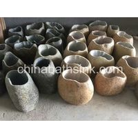 River Stone Pedestal Sink Natural Stone Basthroom Basin