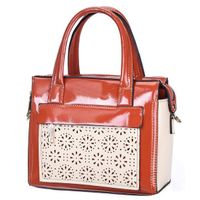 Cheap European style fashion elegant big compartment flower pattern office lady leather handbag thumbnail image