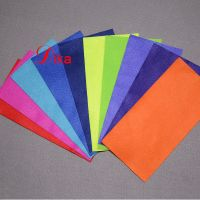 Recycled Eco-friendly bright Colors synthetic craft felt fabric, polyester soft felt nonwoven sheet thumbnail image