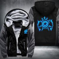 Naruto Hoodie Anime Sasuke Cosplay Naruto Jacket Men Thicken Zipper Luminous Sweatshirts USA EU size