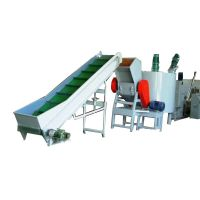 PET bottle washing and recycling line