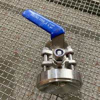 Stainless Steel Industrial 3PC Tank Bottom Valve thumbnail image
