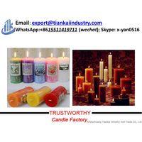 white smokeless dripless stick candle thumbnail image