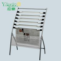 Outdoor Moveable Metal Newspaper Display Rack