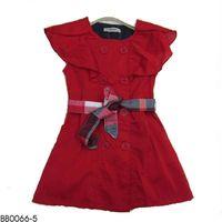 Burber girl's dress wholesale fillfashion