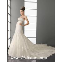 Fantastic A-line Strapless Floor-Length Cathedral Train Wedding Dresses 2014 New Style on sale