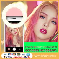 2017 new gadgets led selfie flash light clip flash light selfie ring light