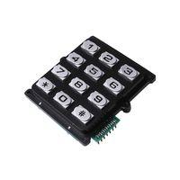 3×4 12 keys new hot sales zinc alloy door lock keypad with customized connectors B519 thumbnail image
