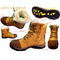 factory OEM High quality leather work safety boots men, military boot thumbnail image