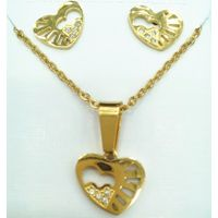 New season popular jewelry Exciting flower jewelry design CZ hollow heart pendant