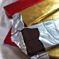 Custom Candy Bar Foil Without Paper Backing Wrapper