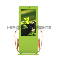 Dual guns ev car AC charging station with 47inch advertising display