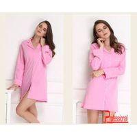 Cotton Comfortable fashion OEM Long sleeve nightgown pajamas for women