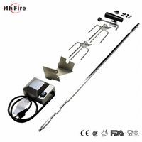 Universal Rotisserie Kit For Use With Burner Grills Square Spit Rod Electric Motor thumbnail image