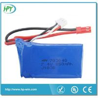 603048 3.7V 780mAh li-polymer battery for wltoys V626 V636 V686 V686G seriers RC quadcopter
