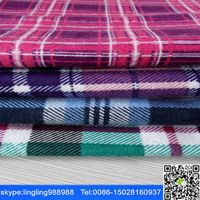 stocklot cotton yd flannel fabric for men shirt