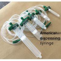 American dispensing syringe, transparent needle cylinder 3/5/10/30/55/100/200/300CC piston adapter thumbnail image