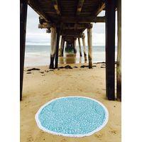 100% cotton Custom Print Aztec Round Beach Towels With Tassels
