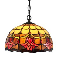 Tiffany Decorative Tulip Style Stained Glass Ceiling Light Pendant Lamp