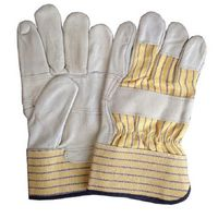 Sell cow grain leather work gloves with patch palm thumbnail image