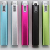 Single cell single output high capacity 2600mah power bank with display