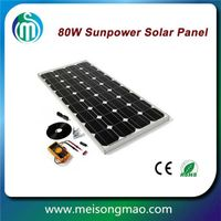 Most popular products China Mono solar module 80W 100W 120W for home solar system