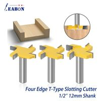 """1/2"""" 12mm Shank DIY Tool Woodworking Router Bit Four Flutes Milling Cutter Knife"""