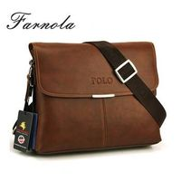 2014 brand name men bag leather, polo genuine leather man bags