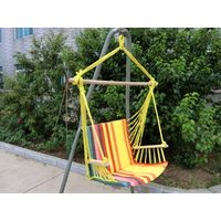 Hanging chair with comfortable armrest