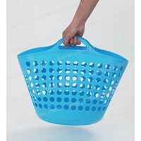 Flexible Laundry Basket, Plastic Bucket