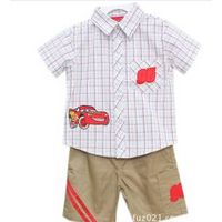 boys summer clothes set 100%cotton wholesale