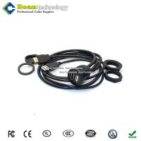 USB&HDMI AUX Panel Flush Mount Cable for car Boat Bike