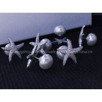 The new couple princess jewelry S925 APM starfish earrings