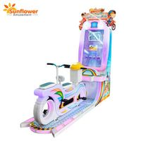 Double Players Driving Bike Game Coin Operated Kiddie Rides Amusement Machine