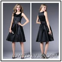 Women Simple Dress Designer Black Party Dress Wholesale