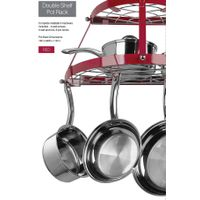 Double shelf pot rack